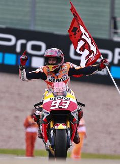The Winner of the german GP Sachsenring, Marc Marquez