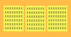 Bist Du ein Genie? Rätselserie. #1: Finde den Buchstaben F innerhalb von 10 Sekunden!