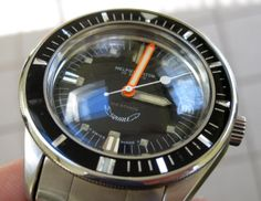 Vintage Squale Dive Watch Squale Watch, Vintage Dive Watches, Diving Watch, Wearable Technology, Sport Watches, Chronograph, Omega Watch, Goals, Gallery