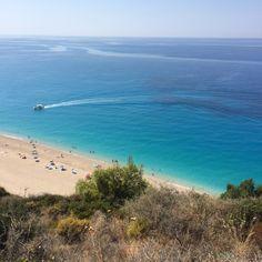 Mills beach, Lefkada, Greece