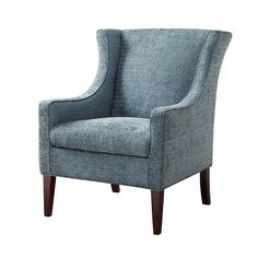Madison Park Preston Steele Blue Wing Chair