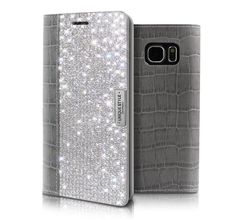 WANNA BE UNIQUE LEATHER CRYSTAL CUBIC CASE FOR GALAXY S6