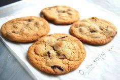 Chocolate chip cookie test-1 via @kingarthurflour