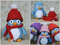Baby penguin amigurumi pattern Crochet Animal Patterns, Crochet Patterns Amigurumi, Crochet Dolls, Baby Knitting Patterns, Baby Penguins, Crochet Decoration, Crochet For Kids, Free Crochet, Crochet Baby