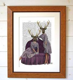 Deer Twins Dictionary Print