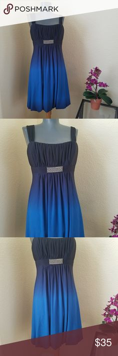 Cache Blue Ombre Sleeveless Cocktail Party Dress