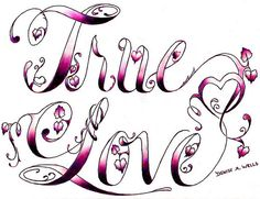 True Love Tattoo Design By Denise A Wells In Love Designs Tattoo Design True Love Tattoo, Love Tattoos, Couple Tattoos, Future Tattoos, Tatoos, Love Coloring Pages, Coloring Books, Cute Zombie, Free Adult Coloring