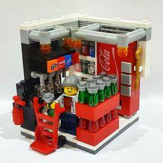 Fast Food Getränke - # Getränke - - Lego Dibujo - - Decoration and Outfits Lego Modular, Lego Minecraft, Minecraft Buildings, Lego Design, Lego City, Pokemon Lego, Lego Hacks, Casa Lego, Lego Food