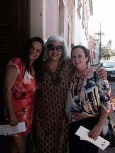 Eu, Célia Labanca e Elisa Lobo! Encontro...