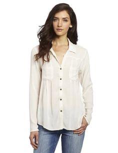 Ella Moss Women's Stella Button Up Shirt, Off-white, Small $168