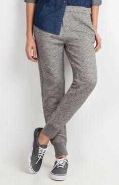 Wear-anywhere bottoms - The mesh pockets in these wear-everywhere sweats make for a less bulky (and more flattering) fit around your hips.  $68; Roots.