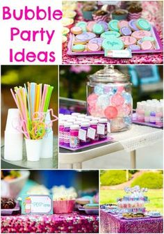 Bubble Party Ideas #Bubbles #Birthday http://www.momsandmunchkins.ca/2014/06/10/bubble-party/