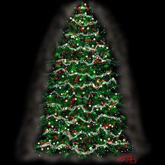 Grand Christmas Tree   Created on iPad using ArtStudio