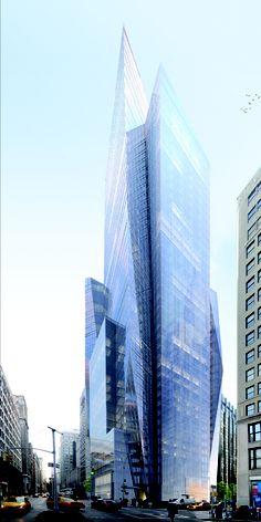 400 Park Avenue South | 145 m | 476 ft | 42 fl | Christian de Portzamparc