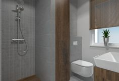 Pojekt łazienek w podgorzowskim domu - novoArt.pl Toilet, Bathroom, Washroom, Flush Toilet, Bathrooms, Litter Box, Toilets, Bath, Bathing