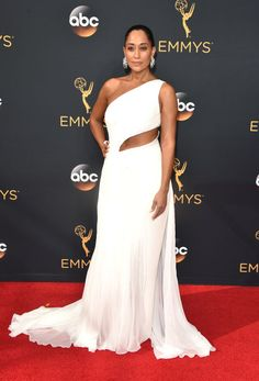 Tracee Ellis Ross is both classy and sexy in this white Ralph Lauren gown -- see some of the best red carpet looks from Emmys 2016!