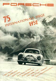 Affiches anciennes de Porsche Compétition - La boite verte