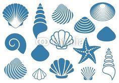 Wektor: Sea shells