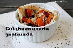 Con Tapas y a lo Loco: Calabaza asada gratinada