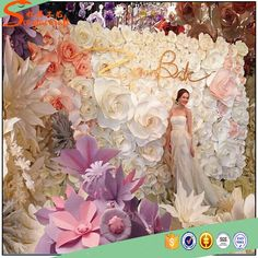 Source wedding paper flower wall backdrop on mibaba source wedding paper flower wall backdrop on mibaba receptions pinterest flower wall backdrop wall backdrops and wedding paper junglespirit Choice Image