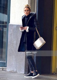 Fotografia de notícias : Olivia Palermo is seen in Brooklyn on January 12,...