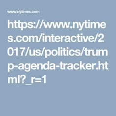 interactive politics trump agenda tracker