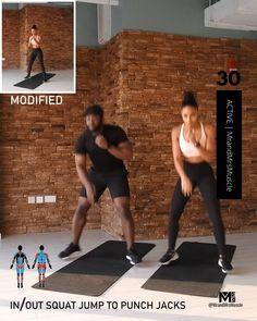 Intense Cardio Workout, Full Body Hiit Workout, Cardio Workout At Home, Gym Workout Videos, Gym Workout For Beginners, Workout Plans, Beginners Cardio, Kickboxing Workout, Fitness Workouts