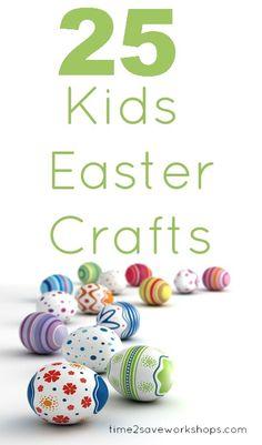 25 Kids Easter Crafts