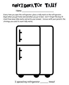 Refrigerator Tally is a fun and engaging homework activity for students to practice tally marks.
