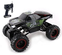 Hobby RC Crawlers - KidiRace Rock Crawler Remote Control Black RC Car  All Terrain  With 3 Powerful Motors  Off Road Race Car *** Continue to the product at the image link.