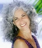 curly, wild gray hair...someday! :)