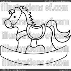 felt rocking horse pattern