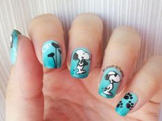 How to do Snoopy nails