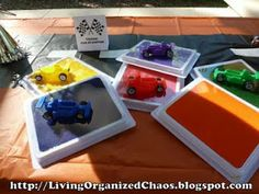Organized Chaos...: Race Car Birthday Party!