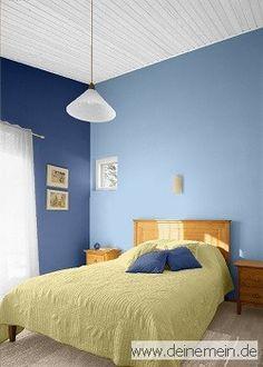 Farbgestaltung Für Ein Schlafzimmer In Den Wandfarben: Sky   Niagara   My  Sunrise