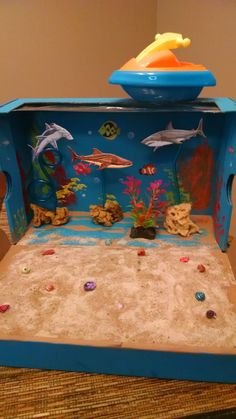 Ocean diorama - 3rd grade science project