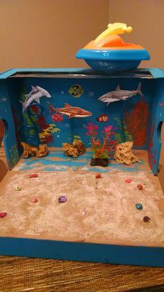 Ocean diorama - 3rd grade science project