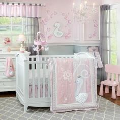 BEDDING Your little princess will be delighted with the beautifully designed Swan Lake Collection featuring lovely appliques and embroidery.