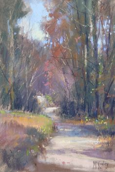 Asheville Fall (pastel, 9x6) by Richard McKinley. Read this article on Pastel Painting Tips: 4 Ways to Loosen Up.