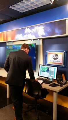 Meteorologist Jonathan Kennedy working on your Weather forecast. Is more rain on the way? Good Morning Columbia on @abc_columbia 5am -7am