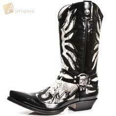 Westenstiefel 2,5cm Cowboystiefel Boots Rot Schwarz Python Totenkopf Apropos