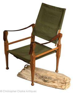 Vintage Raf Ww2 Officer Folding Canvas Chair British Army