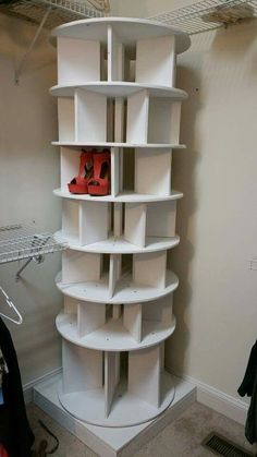 Carousel Shoe Rack For Your Closet Genius Plans Trash To