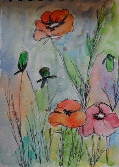 Water colour and pen