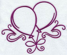 Floating balloons machine embroidery design.