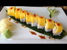 Mango Sushi, Fruit Sushi, Sushi Sushi, Sushi Recipes, Healthy Recipes, Hawiian Food, Japanese Food Sushi, Biscuits, Best Oatmeal