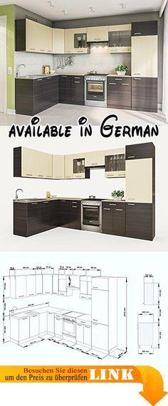 B009HS7MEI  Held Möbel 4096040 Unterschrank 1-türig   1 - küchenblock 260 cm
