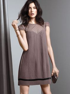 Pleated Chiffon Mini Dress. very cute #victoriassecret