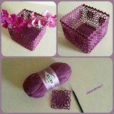 Best 11 How to Crochet a Solid Granny Square – SkillOfKing. Crochet Bowl, Love Crochet, Crochet Gifts, Crochet Motif, Crochet Doilies, Crochet Lace, Crochet Stitches, Crochet Patterns, Crochet Decoration