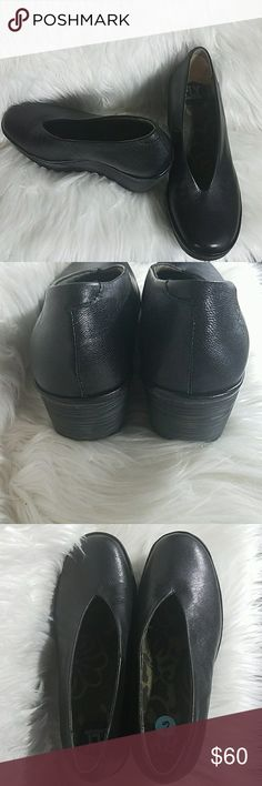Fly London Black Wedges Authentic Fly London 2.5in wedge  Size 6 Great condition ISU025 Fly London Shoes Wedges